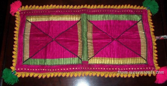 SWAT VALLEY SILK FLOSS EMBROIDERY PILLOW CASE