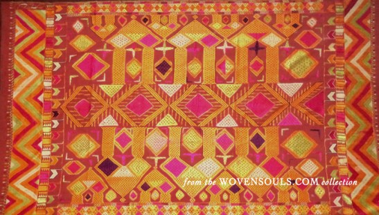 Antique Darshan Dwar Phulkari Bagh Embroidery Textile Art India