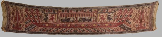Antique Tampan Palepai Ship Cloth from Lampung Sumatra