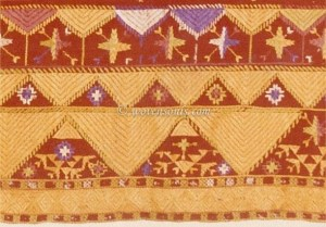 ANTIQUE PUNJAB TEXTILE PHULKARI BAGH EMBROIDERY INDIA