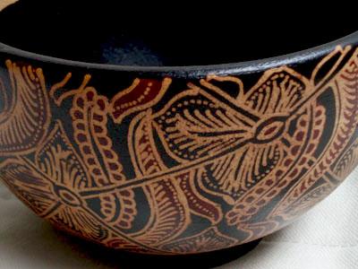 java batik wood art