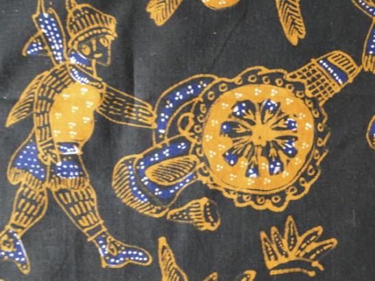 Vintage Java Batik figurative textile-34