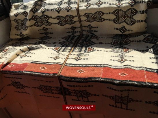 Malian wedding blanket woven by the Fulani Nomads, circa 1920