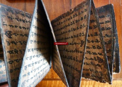 Antique Batak Manuscript on wood bark.