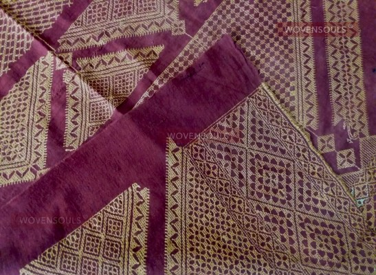 w ANTIQUE CHOPE PHULKARI MUSEUM QUALITY23