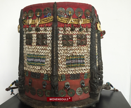Antique Dayak Maloh Baby Carrier with trade beads
