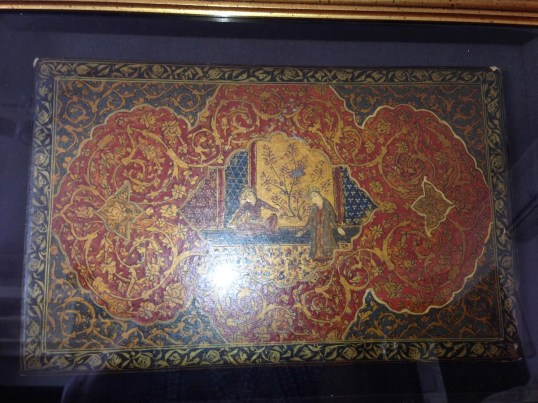 ANTIQUE PERSIAN PAINTED LACQUERED MANUSCRIPT BOOK COVERS