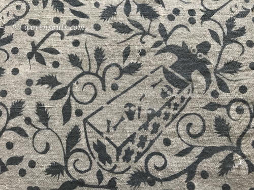 1089 Antique Toraja Ceremonial Figurative Batik Textile