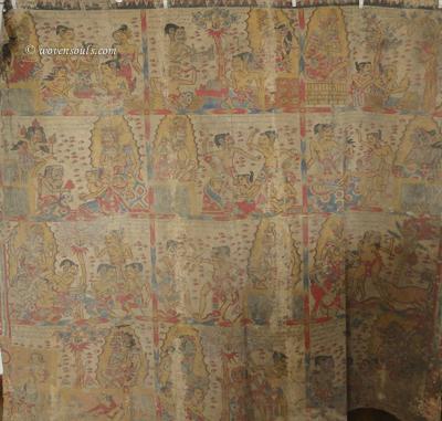 Antique Palindon - Astrological Calendar Painting - Kamasan, Bali