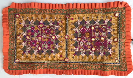 ANTIQUE TEXTILE - DOWRY PILLOW CASE SINDH