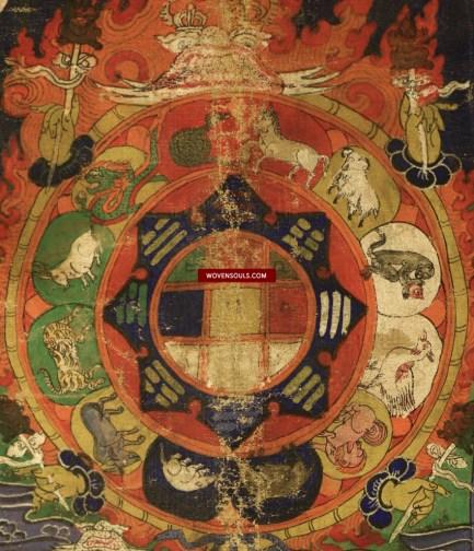 1228 ANTIQUE TIBETAN ASTROLOGICAL CHART 12