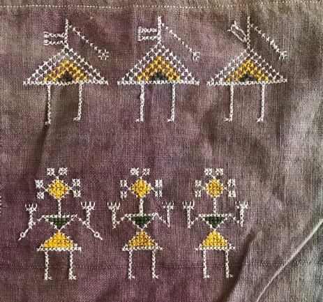 ANTIQUE SHEKHAWAT BISHNOI WEDDING SHAWL INDIAN TEXTILE RAJASTHAN  EMBROIDERY