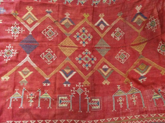 ANTIQUE BISHNOI SHEKHAWAT SHAWL WITH EMBROIDERY