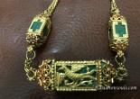 antique indian goan malachite jewelry