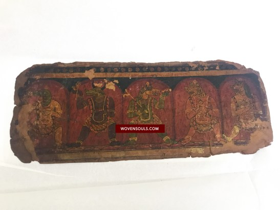 Ancient Painted Buddhist Manuscript Folios - Tibet