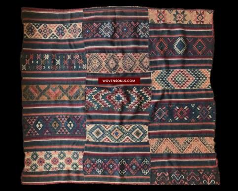 ANTIQUE CHARKHAB CHARKHAP RAINCLOAK BHUTAN TEXTILE ART