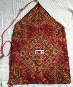 vintage indian tribal dowry bag embroidery gujarat