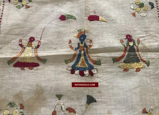 Wovensouls Art Gallery - Chamba Rumal - Textile Artwork