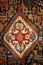 ANTIQUE QASHQAI SHEKARLU PERSIAN RUG