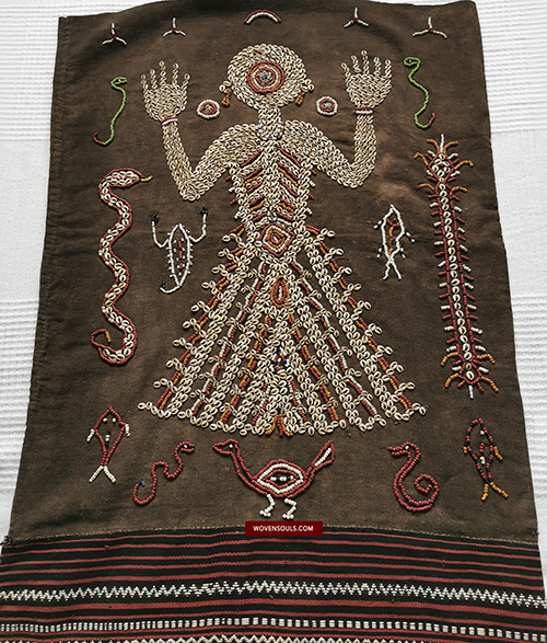 Antique Sumba Lau Wuti Kau Shell Beaded Textile