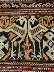 Antique Dayk Beaded Shell Textile Lau Witi kau or Lau Wuti Kau