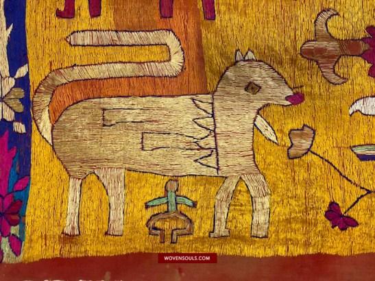 1455 Antique Sainchi Phulkari Indian textile Punjab Embroidery