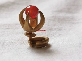 Ancient Antique Gold Majapahit Javanese Bird Ring Earring