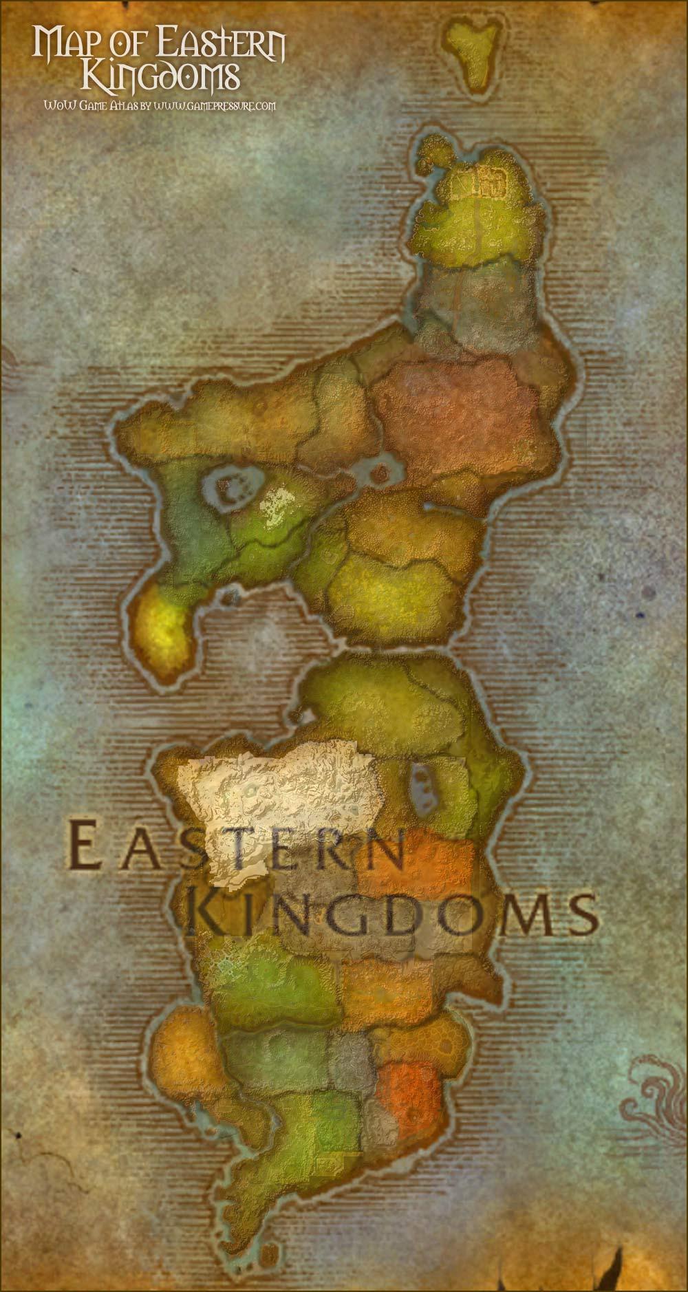 Eastern Kingdoms Map : eastern, kingdoms, Eastern, Kingdoms, World, Warcraft
