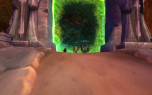 Niqora and Bursthoof standing before the Dark Portal
