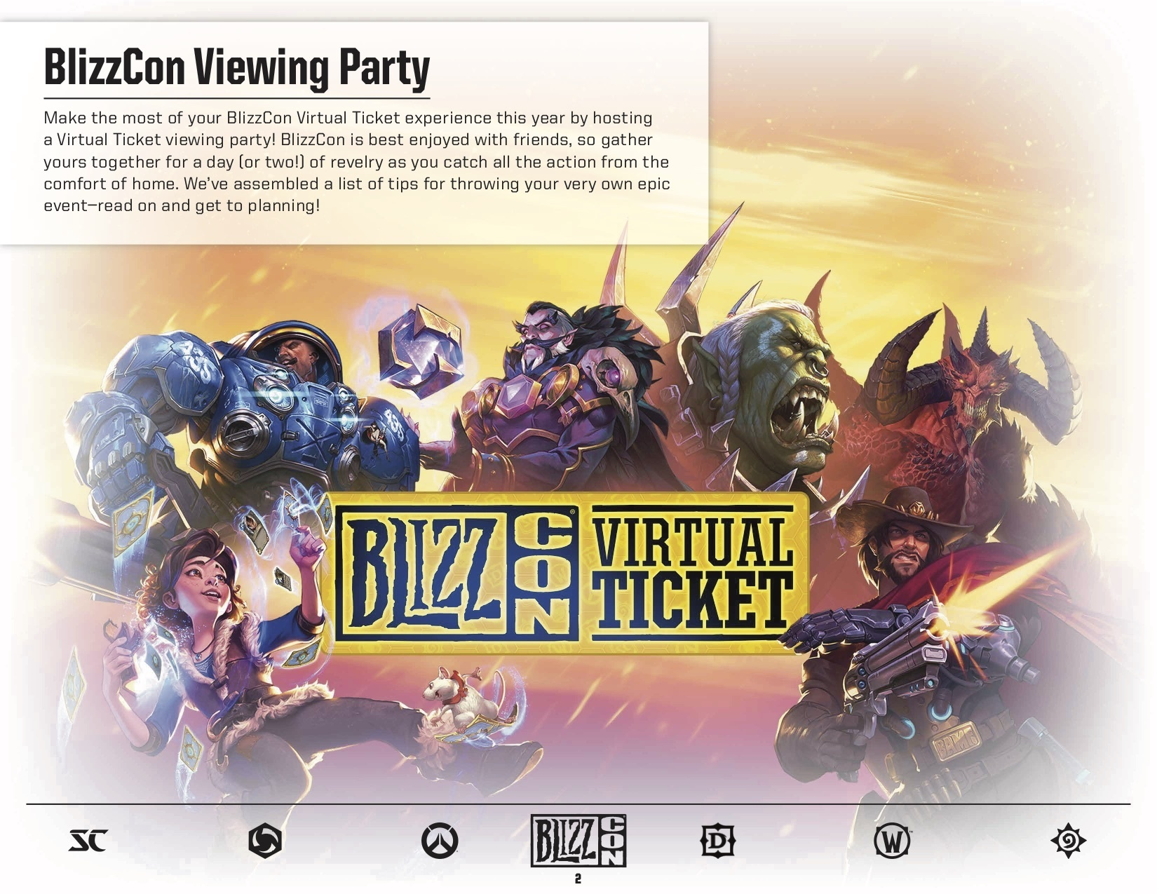 blizzcon viewing party booklet