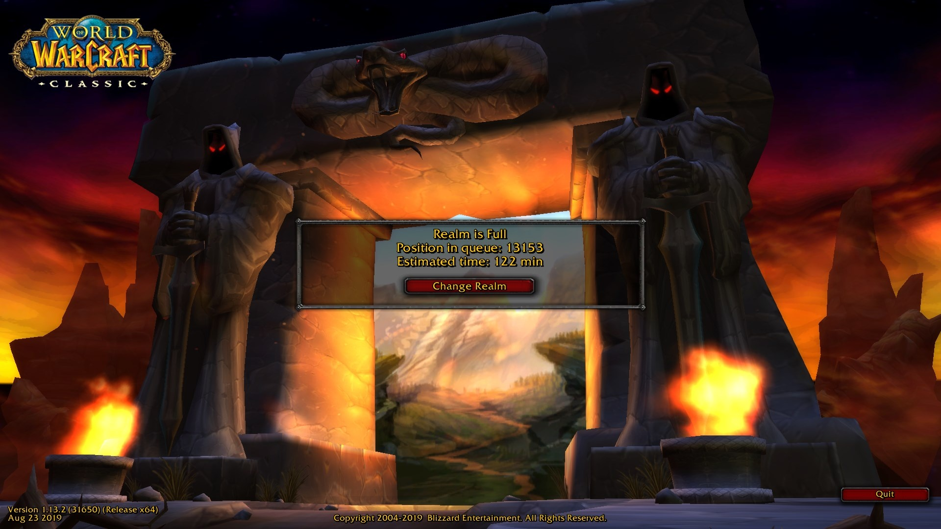 launch classic wow server