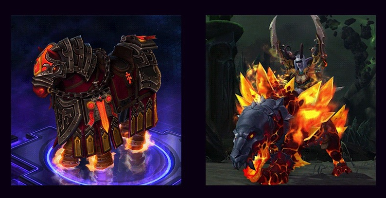 Primal Flamesaber WoW Mount from For Azeroth Heroes of the Storm Event  Wowhead News