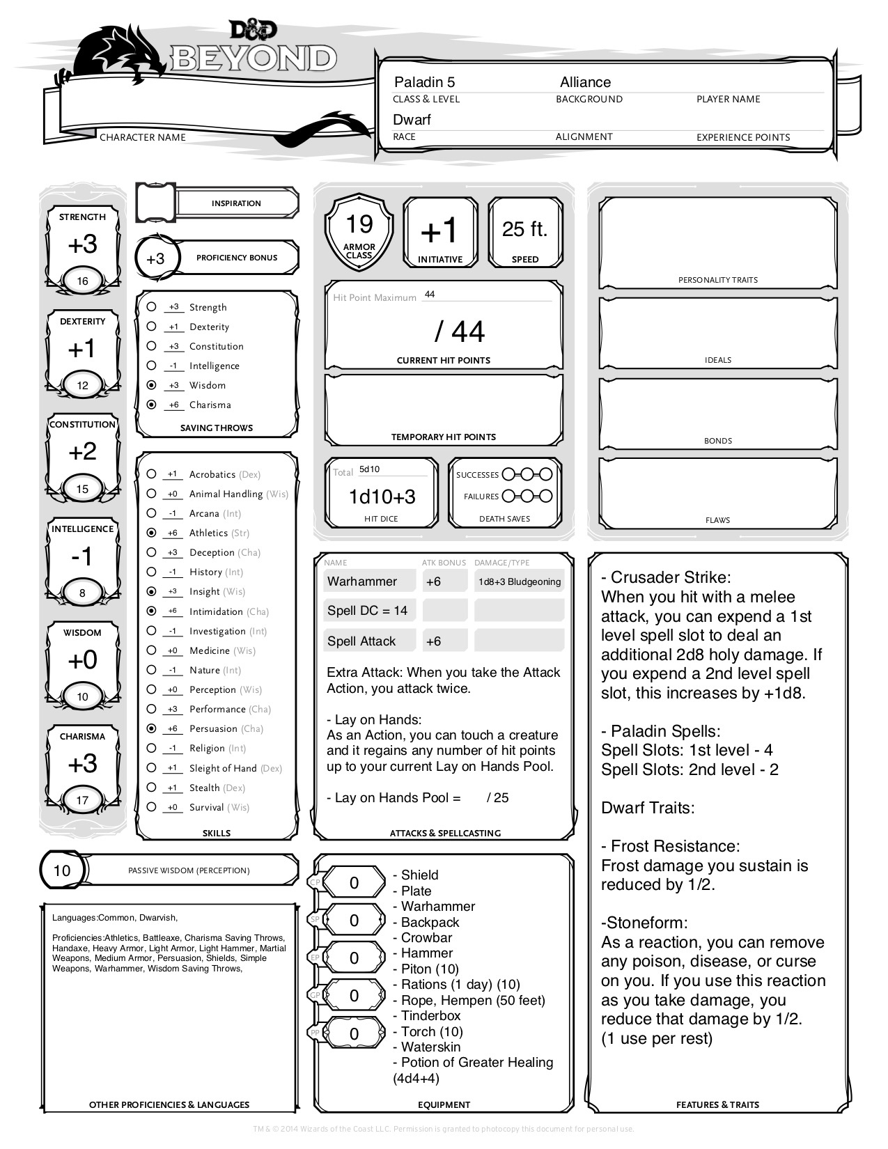 Dnd Stats Dungeons And Dragons Homebrew Dnd t