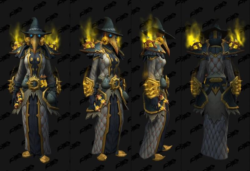 Cloth Castle Nathria Shadowlands Raid Armor Set 03