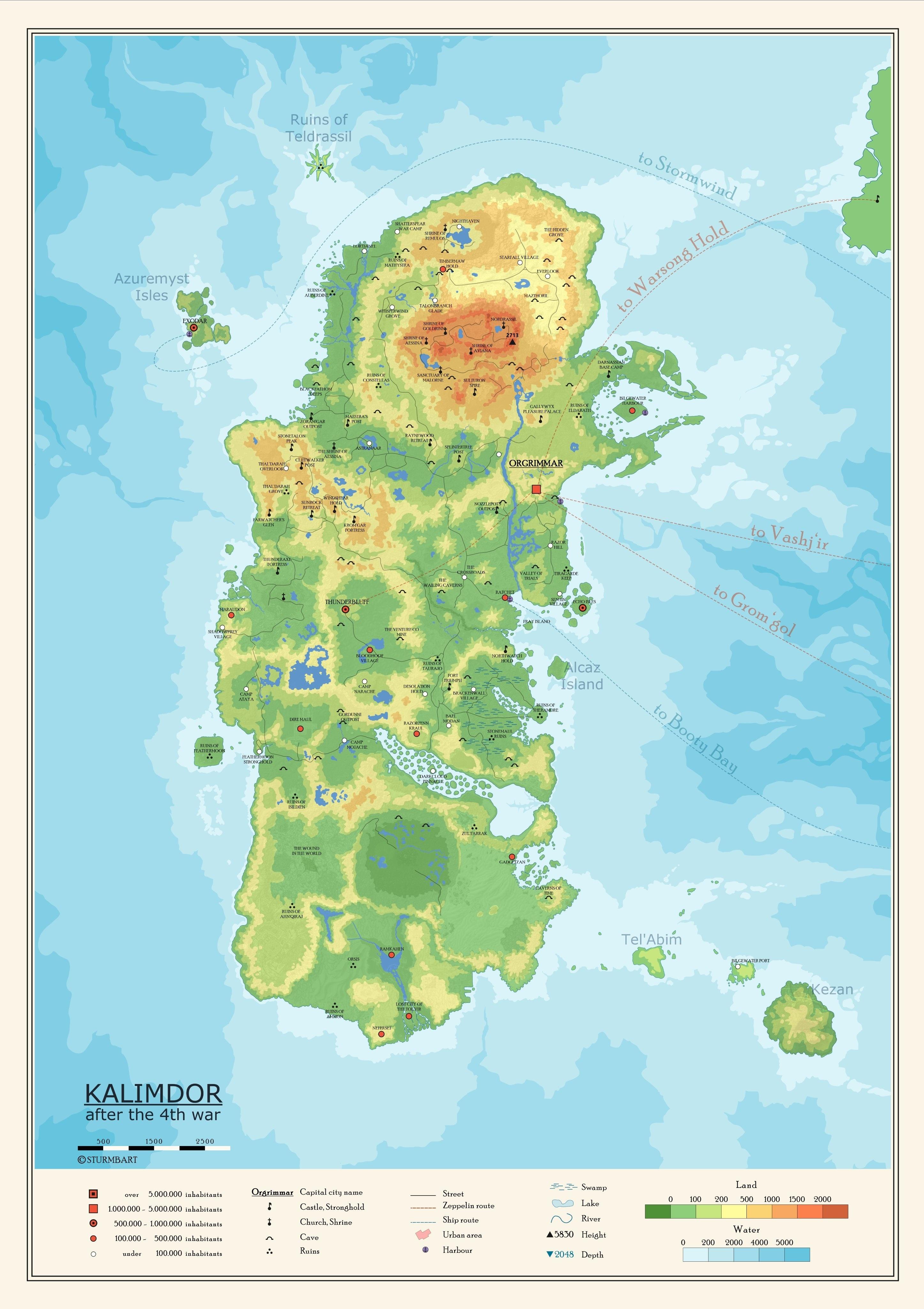 Eastern Kingdoms Map : eastern, kingdoms, Sturmbart's, Atlas, Azeroth, Highly, Detailed, Eastern, Kingdoms, Kalimdor, Wowhead