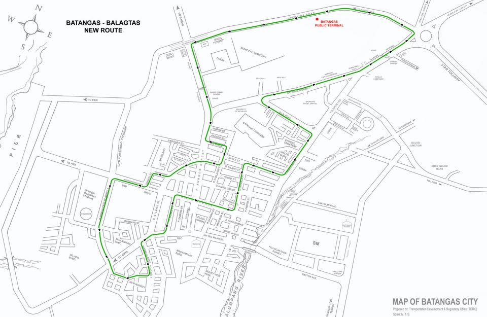 New Transportation Routes in Batangas City, Implemented
