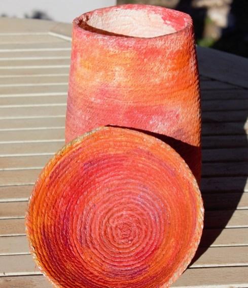 Hannah Wattangeri. Coil bowl and vessel thanks to Lynda Monk's video.