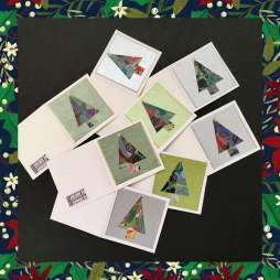 Mara. Webb. Gina Ferrari suggested that leftovers from her collage project could be used for other things. Correct!