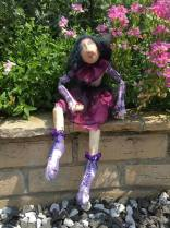 I have always wanted to make a Jan Horrox doll and here she is. I must say that I am pretty pleased with her. I managed to make 'Doll' from materials in my stash most of which I dyed. The only thing that I had to buy was the stuffing.