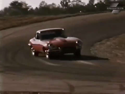 High speed cornering - 1968 Jaguar XKE Road Test