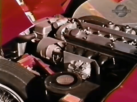 Engine Compartment - 1968 Jaguar XKE Road Test