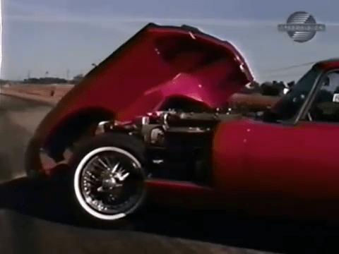 1968 Jaguar XKE Road Test Open Hood