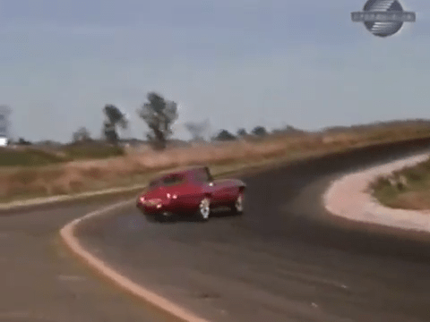 4 Wheel Slide 1968 Jaguar XKE Road Test