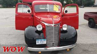 Red Chevrolete Pickup Front