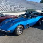 71 Chevrolet Corvette Convertible Blue 3
