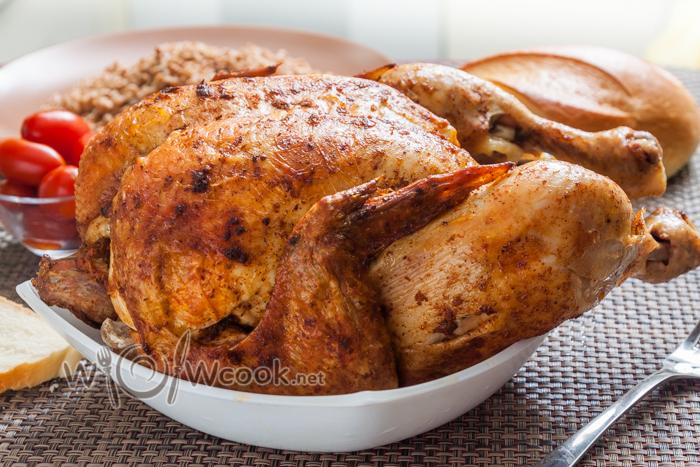 Курица на бутылке в духовке рецепт