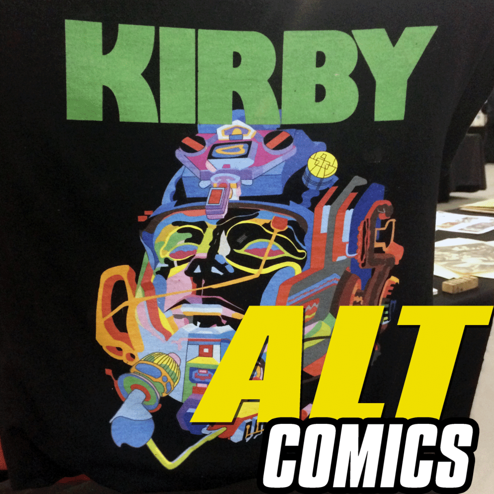 Derf and Bruce Simon & Mark Badger from the Jack Kirby Museum at APE 2017 on the AltComics podcast