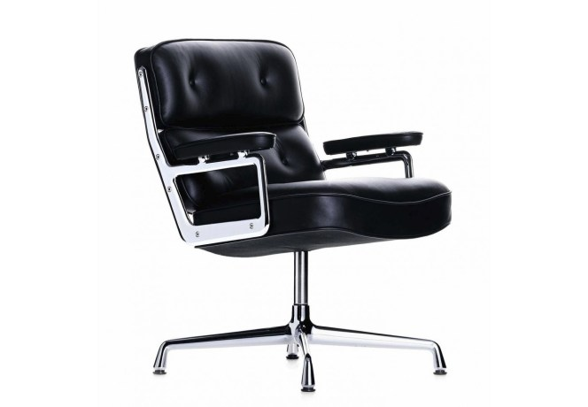 charles-ray-eames-black-leather-lobby-chair-circa-1980