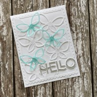 Glassy Ocean on Vellum and Brilliant Silver Sparkles on the Hello - Dies used are all available from www.apocketfullofhappiness.com - Designed By Marion Emberson