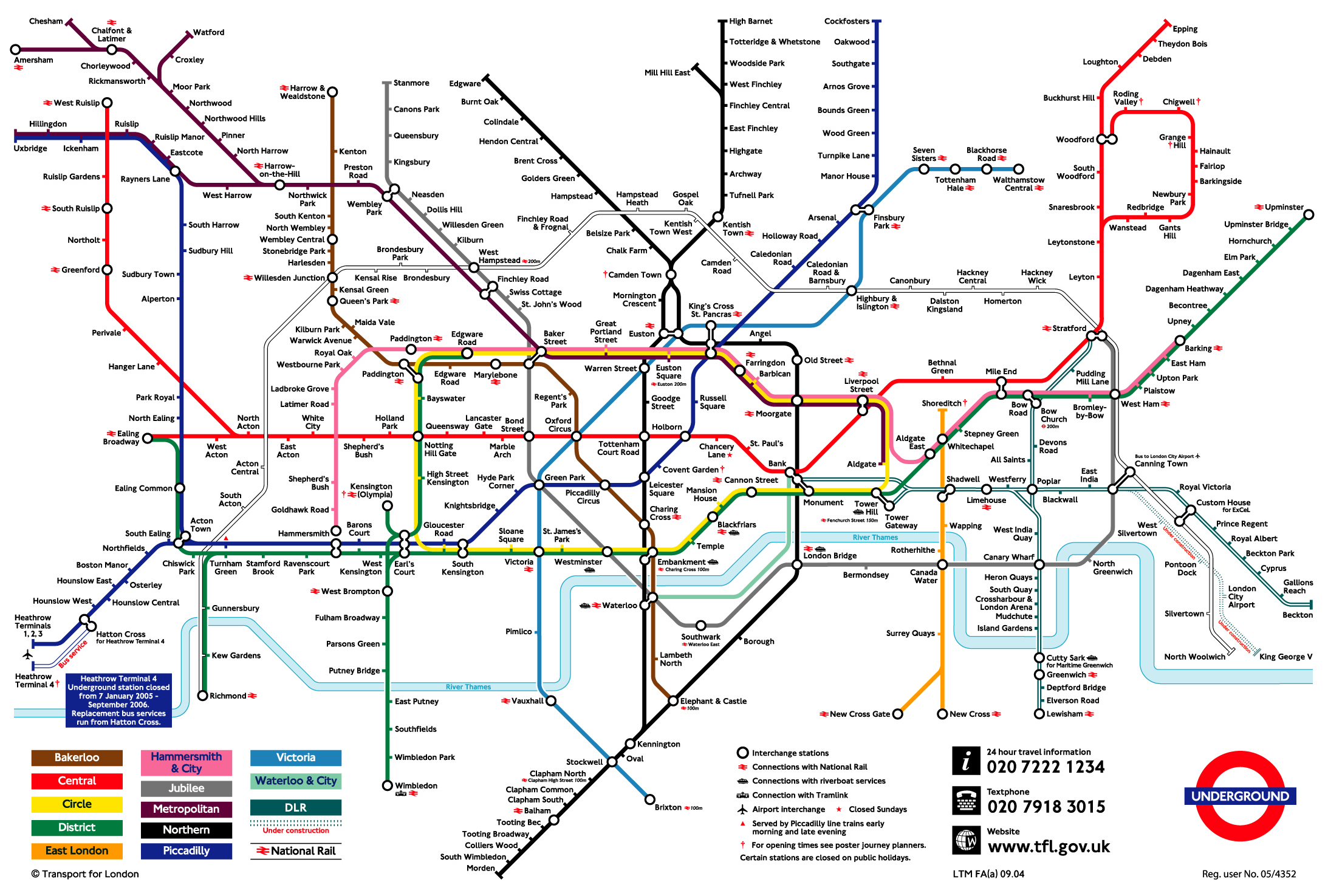 road map of london with tube stations